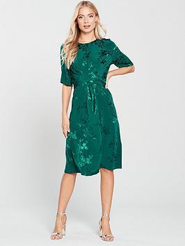 Phase Eight Jaimee Jacquard Wrap Dress - Jade