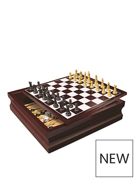 cardinal-classic-wood-family-10-game-set-black-amp-gold
