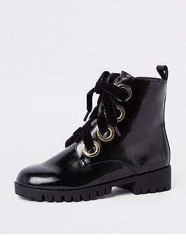 river-island-black-chunky-eyelet-boots
