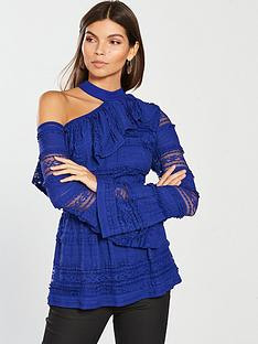 v-by-very-lace-one-shoulder-top-electric-bluenbsp