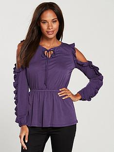 v-by-very-cold-shoulder-frill-top-grape