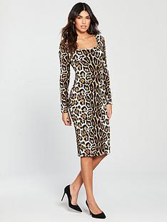 v-by-very-square-neckline-jerseynbspbodycon-dress-animal-print