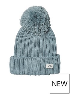 river-island-boys-light-blue-bobble-top-knit-beanie-hat