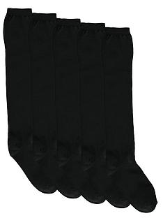 intimates-essentials-knee-high-socks-5-pack