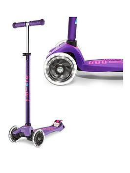 Micro Scooter Maxi Deluxe Led Purple Scooter