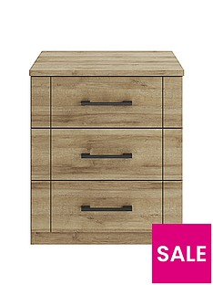 Consort Kardon Ready Assembled 3 Drawer Wide Chest