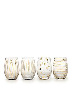 creative-tops-cheers-metallic-gold-stemless-wine-glasses-ndash-set-of-4