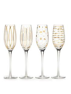 creative-tops-cheers-metallic-gold-champagne-flutes-ndash-set-of-4