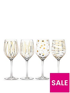 creative-tops-mikasa-cheers-metallic-gold-wine-glasses-ndash-set-of-4