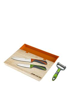 joe-wicks-small-35-x-25-cm-chopping-board-and-tray-plus-3-piece-knife-set