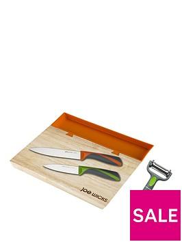 joe-wicks-small-35-x-25-cm-chopping-board-and-tray-plus-3-piece-knife-set