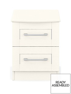 Frodsham Ready Assembled 2 Drawer Bedside Chest