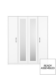 Leyton 4 Door Mirrored Wardrobe