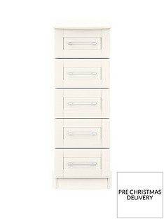 Frodsham Ready Assembled 5 Drawer Narrow Chest