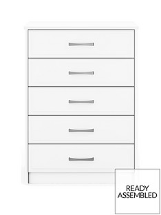 Leyton Ready Assembled 5 Drawer Chest