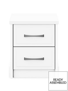 Leyton Ready Assembled 2 Drawer Bedside Chest