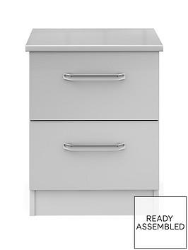 sanford-ready-assembled-high-gloss-2-drawer-bedside-chestnbsp
