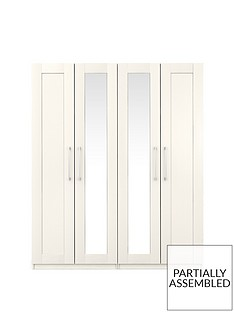 Frodsham 4 Door Mirrored Wardrobe