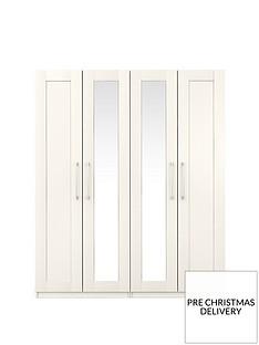 Frodsham4 Door Mirrored Wardrobe