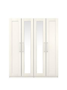Frodsham 4 Door Mirrored Wardrobe