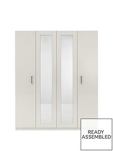 sanfordnbsp4-door-high-gloss-mirrored-wardrobe