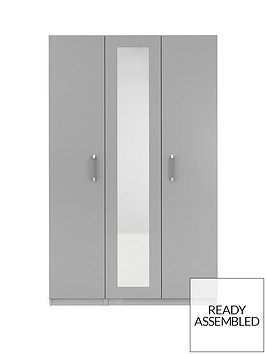 sanford-3-door-high-gloss-mirrored-wardrobe