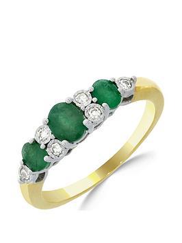 love-gem-9ct-gold-emerald-7-point-diamond-eternity-ring