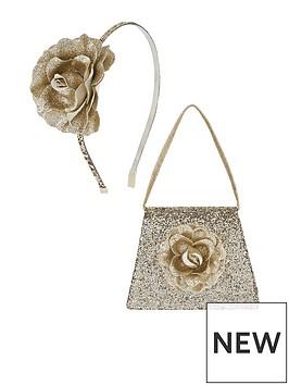 monsoon-girls-glitter-garden-flower-bag-amp-headband-set