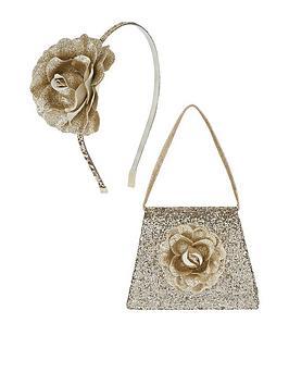 monsoon-girls-glitter-garden-flower-bag-headband-set