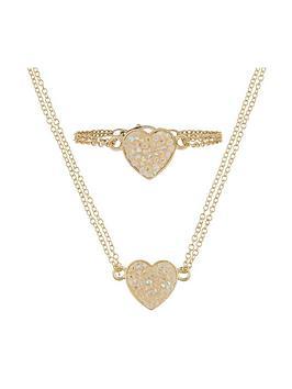 monsoon-girls-dazzle-heart-necklace-bracelet-set