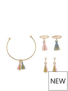 monsoon-girls-mini-crazy-tassle-bracelet-ring-amp-earring-set