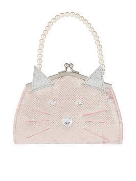 Monsoon Girls Glitter Puss Novelty Mini Bag