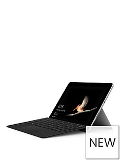 microsoft-microsoft-surface-go-intel-pentium-gold-processor-4415y-4gb-ram-64gb-emmc-ssd-10in-touchscreen-2-in-1-laptop-platinum-with-type-cover-black