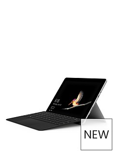 microsoft-surface-gonbspintel-pentium-gold-processor-4415y-8gbnbspramnbsp128gbnbspssd-10-inchnbsptouchscreen-2-in-1-laptop-platinum-with-type-cover-black