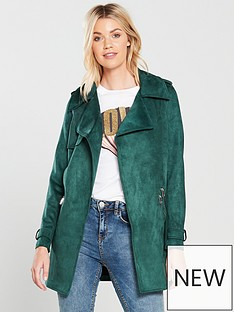 river-island-river-island-faux-suede-trench-jacket--bottle-green
