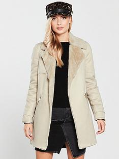 river-island-river-island-faux-fur-lined-jacket--cream
