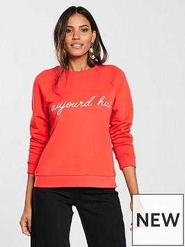 whistles-slogan-sweatshirt-red