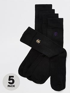 river-island-ri-logo-5pk-socks