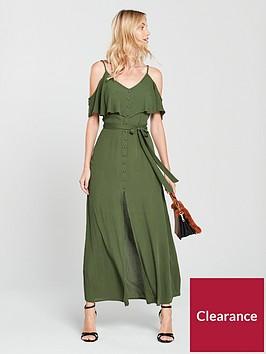 river-island-bardot-maxi-dress--khaki
