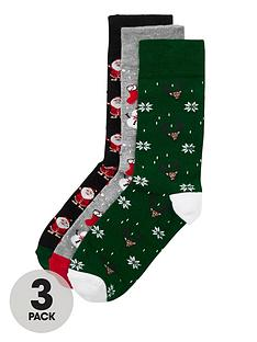 river-island-christmas-socks-multipacknbsp--greengreyblack