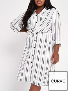 23ece49ff RI Plus Striped Waisted Shirt Dress - Multi