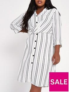 ri-plus-striped-waisted-shirt-dress--nbspmulti