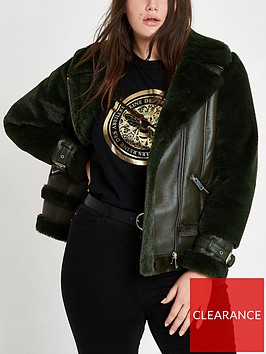 ri-plus-faux-fur-aviatornbspjacket-green