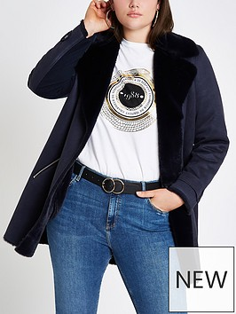 ri-plus-faux-fur-lined-jacket-navy