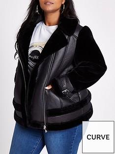 ri-plus-plus-faux-fur-aviatornbspjacket-black