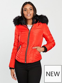 river-island-river-island-hooded-padded-jacket--orange