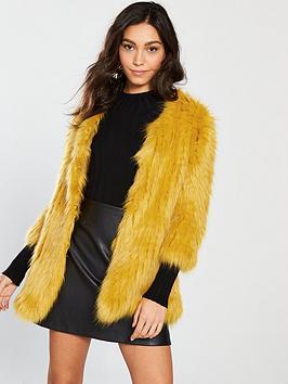 river-island-faux-fur-coat--yellow