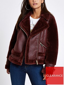 ri-petite-faux-suede-avaiator-jacket-red