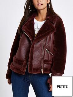 ri-petite-ri-petite-faux-fur-avaiator-jacket--berry