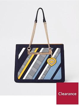 river-island-stripe-chain-handle-tote-bag-blue